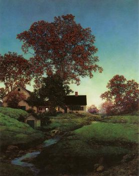 Evening by Maxfield Parrish