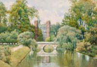 WIlliam Fraser Garden (British, 1856–1921), St John's College, Cambridge, from the Backs