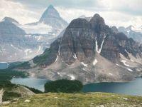 Mt.  Assiniboin hike viewpoint.