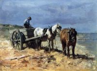 Anton Mauve—A Team and Pullcart