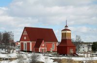 Kalix, northern Sweden. Church from 1490