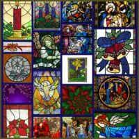 Christmas Stained Glass Collage: Large