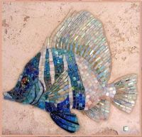Stained Glass Mosaic Fish