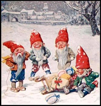 Christmas Elves  -  Vintage