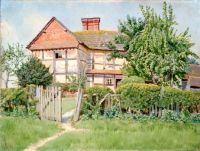"""Volvens Farm, Forest Green, Surrey""-Ernest C. Christie  1924"