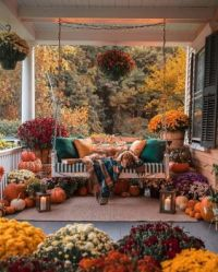 Autumn day on the porch