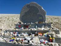 Monument Tom Simpson op de Mont Ventoux