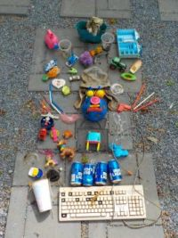 Tossed toys