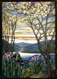 Magnolia and Irises, ca. 1908 (L.C. Tiffany)