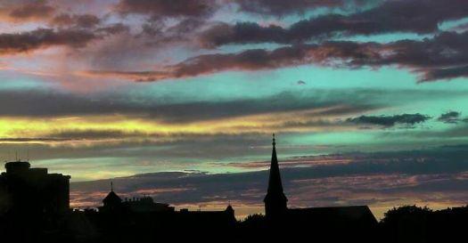 Sunset over Salem skyline