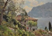 "Peder Mørk Mønsted,  ""Torbole, Lake Garda"", 1932"
