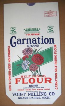 old carnation flour bag