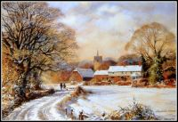 Seasonal - Winter Snow Scene - Christmas in the Country (Sm/Med)
