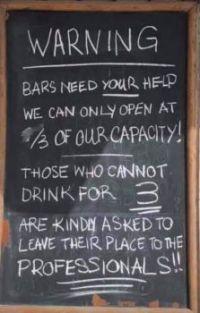 Bars are open