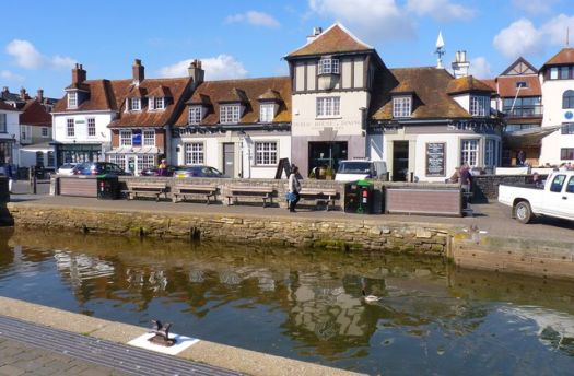 Lymington Quay and Ship Inn, Hampshire.  Photo by Mike Smith