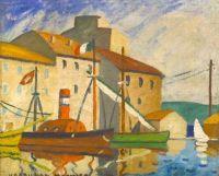 Louis-Mathieu Verdilhan (French, 1875–1928), Caboteurs au Port
