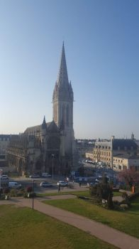 Church of St Pierre, Caen, Normandy, France, taken from Caen Castle