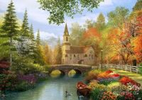 Autumn Church Digital Art by Dominic Davison