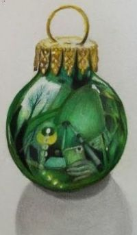 Draw this Realistic Christmas Ornament