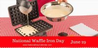 Today Is National Waffle Iron Day!!