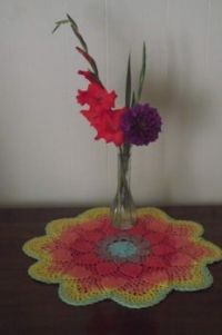 flowers & doily