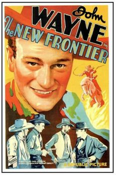 vintage movie poster .. The New Frontier