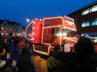 coca cola lorry in bournemouth axmas 2013