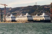 Laid up Renaissance Cruise Liners