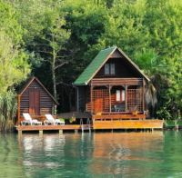 River House On Ada Bojana River, Montenegro....