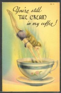 Themes Vintage illustrations/pictures - The Cream in the coffee