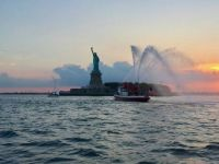 Statue of Liberty fire boat salute