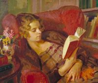 """Henry Taylor Lamb, """"The Artist's Wife"""" Tate Gallery"""