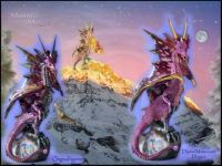 Dawn's Light Dragon Before & After (Large A)