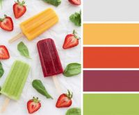 Red, Orange and Green Ice Lollies