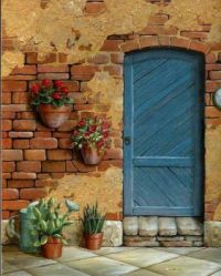 Doorway in Tuscany by Kerry Trout