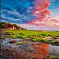 Little house on the river, Notre-Dame du Portage, Qc. June 4, 2020