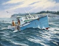 Lobster boat - artist Jay Langford