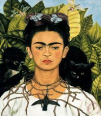 Self Portrait with Necklace of Thorns 1940 painting