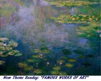 """New Theme Sunday: """"Famous Works of Art""""  Enjoy.  Let's see what you like."""
