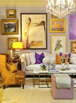 Lavendar and gold room
