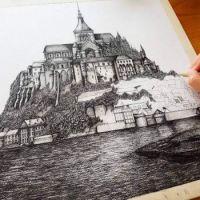 Detailed Ink Drawings