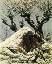 Caspar David Friedrich--Snow Covered Hut