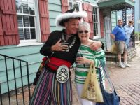 Hunny & the pirate in  Savannah