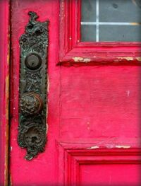 Weathered Wood and Ornate Door Knob