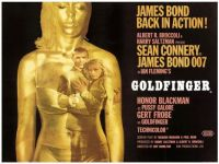 GOLDFINGER - 1964  MOVIE POSTER   SEAN CONNERY, HONOR BLACKMAN, GERT FROBE