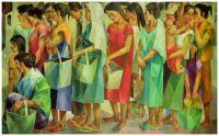 Pila sa Bigas (Rice Queue) ~ Vicente Silva Manansala (Philippines)