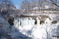 MINNEHAHA FALLS WHICH IS IN THE HEART OF SOUTH MINNEAPOLIS, MINNESOTA