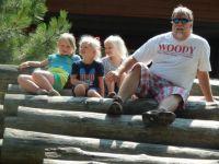 Me and the girls at the lumberjacks memorial