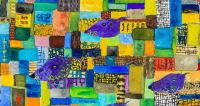 Detail from John Lurie's purple mice facing east