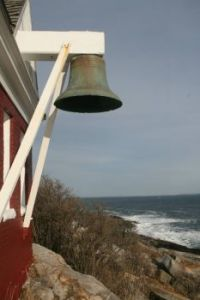 Lighthouse bell in Maine